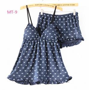 High quality Women luxury pajamas bundle pajamas Lovely figure pattern Manufactures