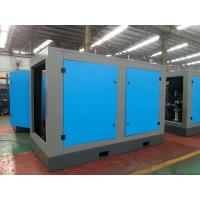 China High efficient double screw air compressor with water cooling , air cooling on sale