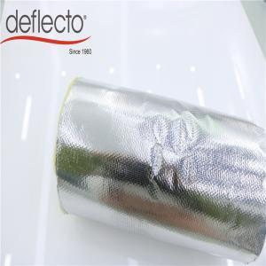 Silver Fiberglass Insulated Flex Hose , 12 Inch Insulated Flexible Duct Heat Insulation