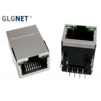 """Buy cheap 1 X 1 Brass Shielded RJ45 Connector Tab Up With LED 30u """" AU Plating Interface from wholesalers"""