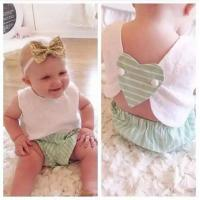 Quality Angou INS popular baby summer sets tops+pants 2pcs sets baby cute suits children toddler for sale