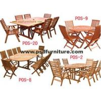China Outdoor Furniture Garden Chair Wooden Table Oak Dining SET4 on sale