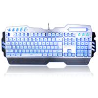 PC Gaming Office Waterproof Mechanical Keyboard With LED Backlit 104 Keys Manufactures