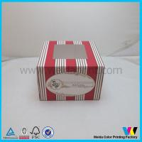 China Mini Cupcake Food Packaging Boxes With Clear PVC Window For 1 Muffin on sale