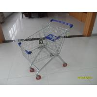 Buy cheap Q195 Low Carbon Steel 100L European Shopping Carts Four Wheel Shopping Trolley from wholesalers