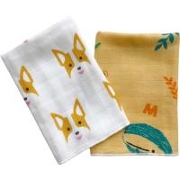 Ultra Absorbent Baby Muslin Bibs 100% Cotton Face Towel Two Layers Gauze Cloth Manufactures