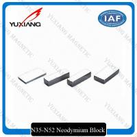 Thick Block Shape Neodymium Permanent Magnets 50x25x10mm With Tin Coated Manufactures