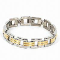 Friendship Magnetic Charm Stainless Steel Bracelet, Customized Colors Welcomed Manufactures