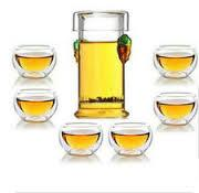 double wall glass cup glass teaset Manufactures