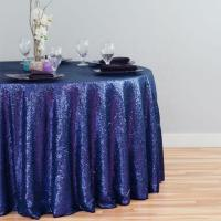 China High Quality Wholesale Custom Cheap polyester party home hotel banquet wedding 120 inch sequin round tablecloth on sale