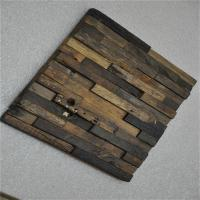 Boat Wood Mosaic Wall Panels , 3D Ceiling Tiles For Hotel Decoration Manufactures