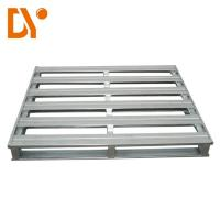 China Heavy Duty Workshop Metal Pallet Box 4 - Way Entry Type Double Faced Style on sale