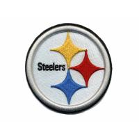 China custom 3D Puff embroidery patch and badges NFL Pittsburgh Steelers on sale