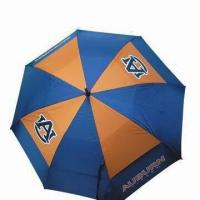 Licensed Golf Umbrella, OEM Orders are Accepted, with Gel Top Sticker on Handle Manufactures