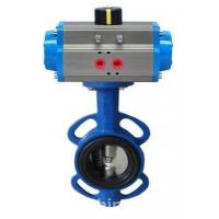 Cast Iron Material Butterfly Valve with Penumatic Actuator and Worm Gear Manufactures