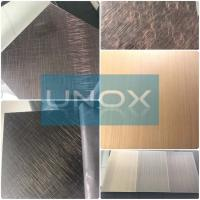 304 Bronze Color Stainless Steel Sheet Hairline Finish-lUnox Color Stainless Steel Sheets Plate Manufactures