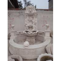 White Marble Natural Stone Water Fountains Of Lion Head , Water Wall Fountain Manufactures
