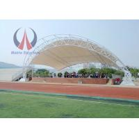 Metal Frame Tensile Membrane Canopy Storage Shed With 6 Poles Large Span Life Manufactures