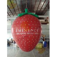 Red 3m Height Strawberry Shaped Balloons With Digital Printing For Promotion Manufactures