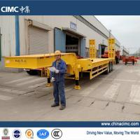 cimc tridem axle semi low bed trailer 60 tons Manufactures