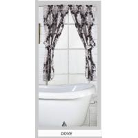 Flocking Fabric Polyester Shower Curtains With Valance , Bathroom Window Curtains Manufactures