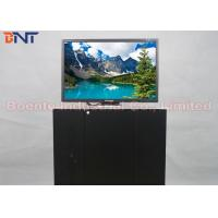 19 Inch Conference Room Tabletop LCD Monitor Screen / Desktop Computer Lifter Manufactures