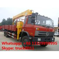 factory sale best price dongfeng 6*4 LHD 8-12tons truck with crane, hot sale dongfeng 210hp diesel truck mounted crane Manufactures