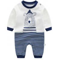 Customized Color Organic Cotton Baby Clothes Newborn Long Sleeve Bodysuit Manufactures