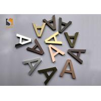Small 3D Shop Sign / Decorative Metal Letters With Finishing Gold , Bronze , Silvery Manufactures