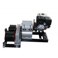 China Honda Gasoline Engine Powered Winch 5T With Two Cable Drums For Wire Rope Pulling on sale