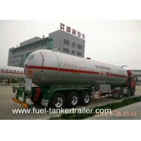 Fuel Semi Trailer With LPG Gas Storage Tanks 56000 Liters Anti - Corrosion Manufactures