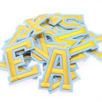 Alphabet Embroidered Letter Patches 2 In 1 Sticker Iron On Self Adhesive Badges Manufactures
