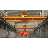 China Double beam bridge crane grab bucket crane on sale