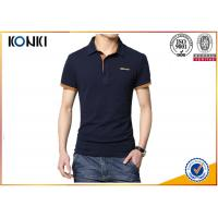 Men'S Fashion Custom Polo Shirt / Embroidery Polo Shirt Contrast Color Neck Manufactures