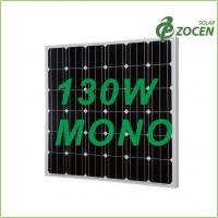 China Black Iridescent Blue 130W Monocrystalline Solar Panels with 0 - 3% Positive Output on sale
