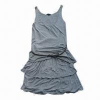 Women's knitted shift dress, made of 100% viscose jersey Manufactures