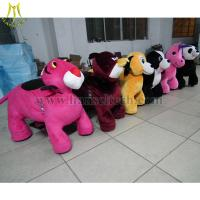 China Hansel Wholesale stuffed animal ride electronic coin toys happy rides on animal on sale