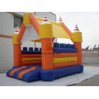 PVC Tarpaulin Inflatable Castle Bouncer / Slide Advertising Of Entertainments Manufactures