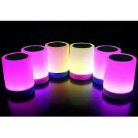 Quality Multiple flashing light color Mini Portable Bluetooth Speaker with Night Lamb 3W 500mAh/3.7V for sale