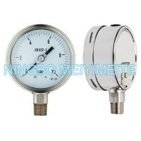 Oil Fillable SS Pressure Gauge Instrument With Tempered Glass / Safety Glass Manufactures