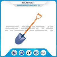 Railway Steel Long Handle Spade Shovel / Garden Spade S503 For Farm Digging Manufactures