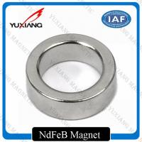 Spindle Motor Neodymium Ring Magnets , Strong Neodymium Magnets Bright Silver Manufactures
