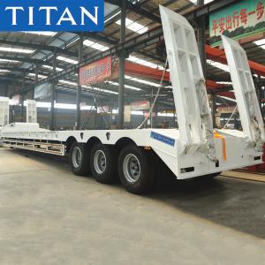 TITAN 3 Axle 50 Ton Excavator Transporter Lowboy Semi Trailer for Sale Manufactures