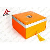 China Orange Printing Tote Customized Paper Box Cardboard Gift Packaging Use on sale