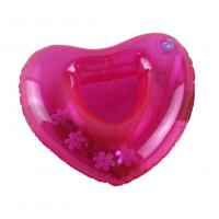 China Red Sweat-heart Shape Inflatable Drink Holder PVC Pool Floating Holder 18*18cm on sale