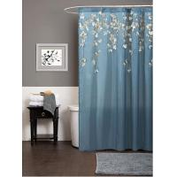 Quality Waterproof Green Window Shower Curtain With Flower Patten , 100% Polyester for sale