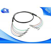 China ST / Fiber Optic Armored Cable / Armored Fiber Optic Patch Cable , 6 Core Armoured Fiber Optic Cable on sale