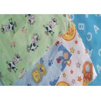 China Dyed Printed Cotton Flannel Cloth , Children Clothing Fabric Widely Use on sale