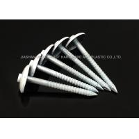 DIN Galvanised Painted Roofing Nails Umbrella Head Ring Shank Strong Grip Manufactures
