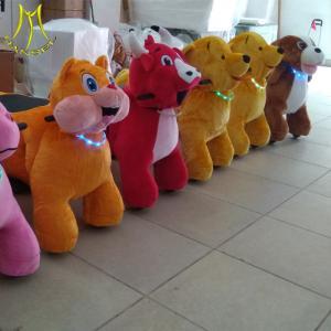 China Hansel  hot sell stuffed animals unicorn motorized plush animal unicorn bike rides with wheels on sale